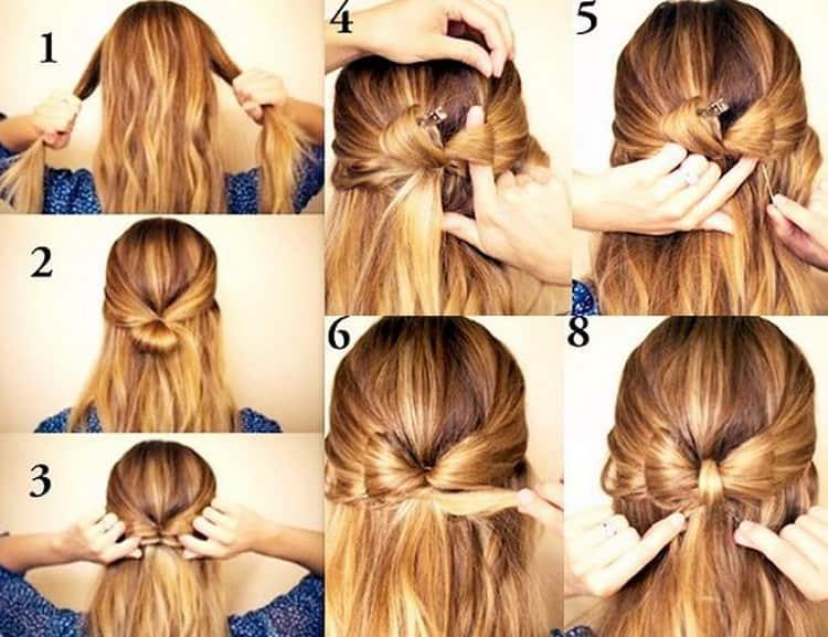 Как делать прически для волос средней длины для девочек