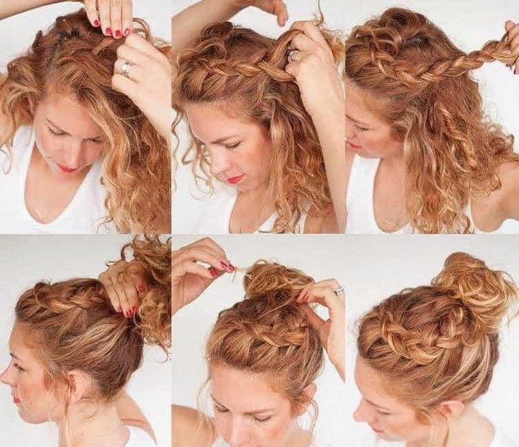 Как делать простые прически на волосы средней длины