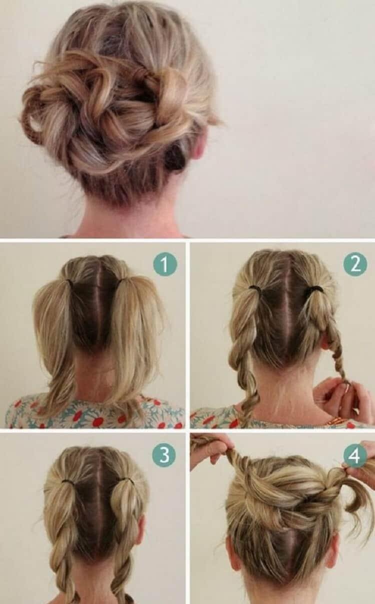 Как делать легкие прически на волосы средней длины