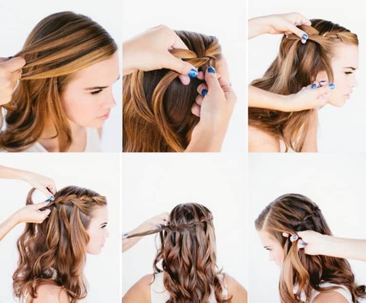 Легкие и простые прически на средние волосы с пошаговыми фото
