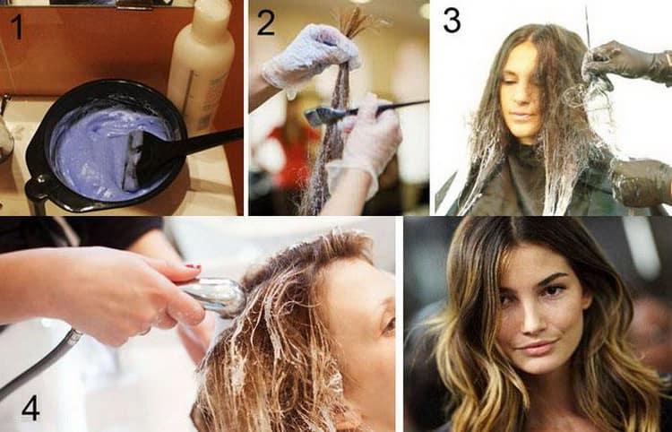 Как сделать шатуш на короткие волосы: видео