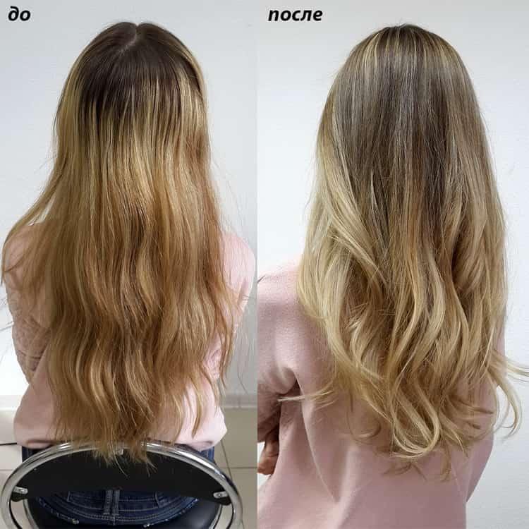 Как сделать шатуш на русые волосы