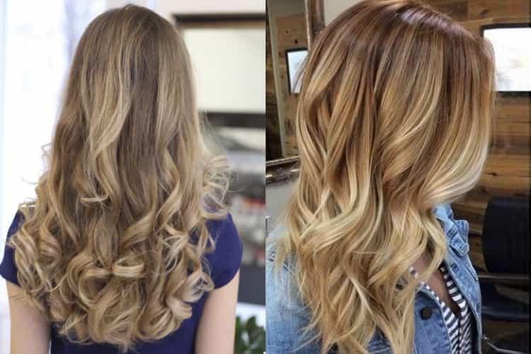 Шатуш на русые волосы длинные волосы, фото