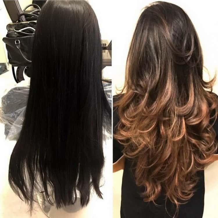 Окрашивание шатуш на темные волосы: фото