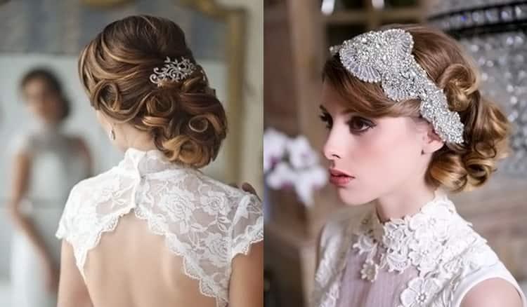 Как делать прически для волос средней длины на свадьбу