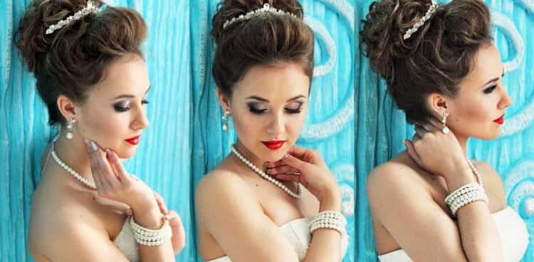 Как делается свадебная прическа своими руками на средние волосы