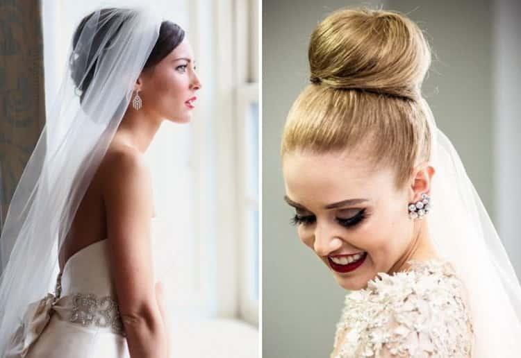 Как делать красивые прически на свадьбу на средние волосы