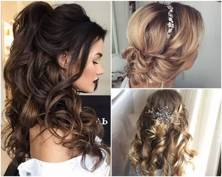 Как сделать свадебные прически на средние волосы, фото