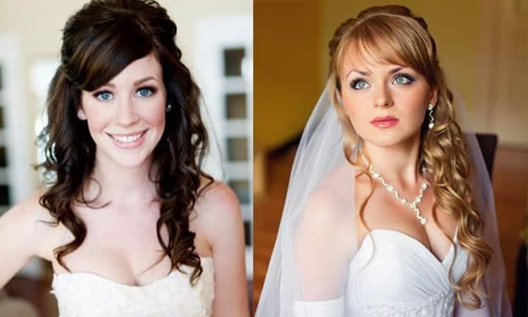 Как делается свадебная прическа пучок с челкой