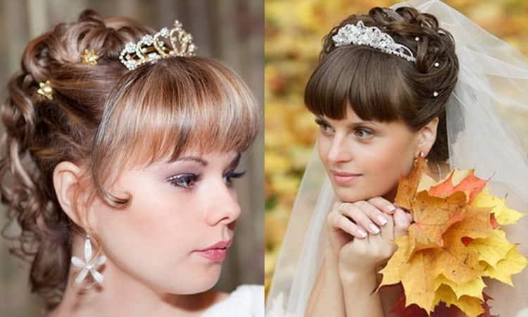 Как делается свадебная прическа с челкой на бок