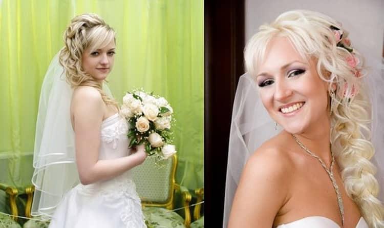 Все о том как делаются свадебные прически с челкой