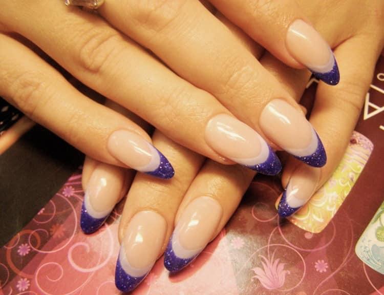Как сделать цветной френч на овальных ногтях, фото