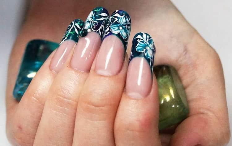 Как сделать френч на овальных ногтях