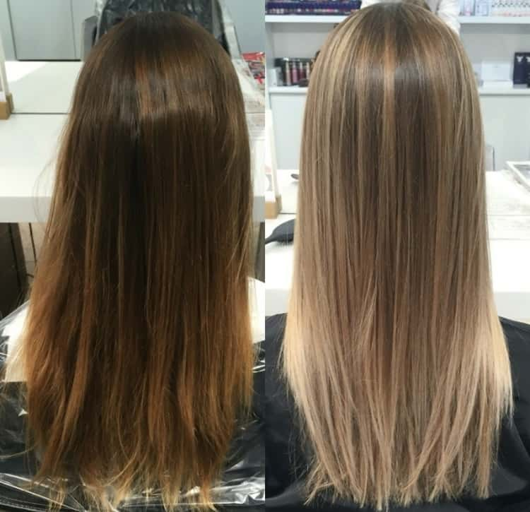 Простые виды мелирования волос: фото