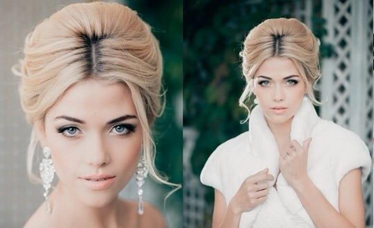 Как делать высокие свадебные прически на средние волосы