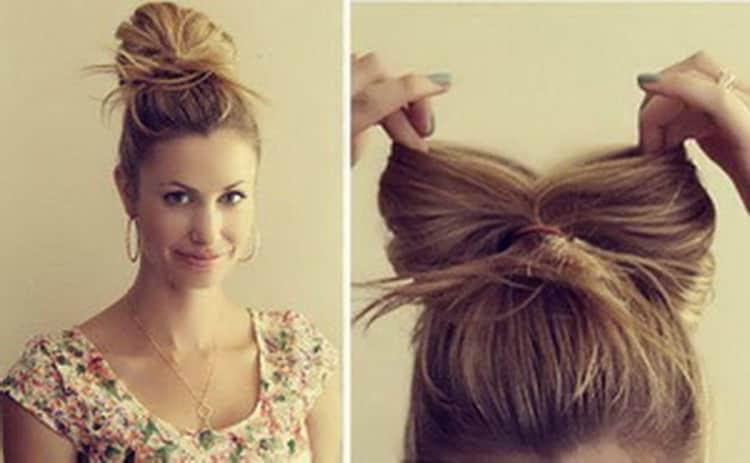 Как делать высокие прически на средние волосы