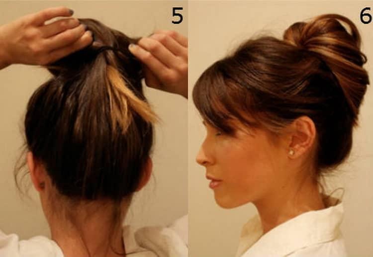 Лучшие высокие прически на средние волосы с пошаговыми фото