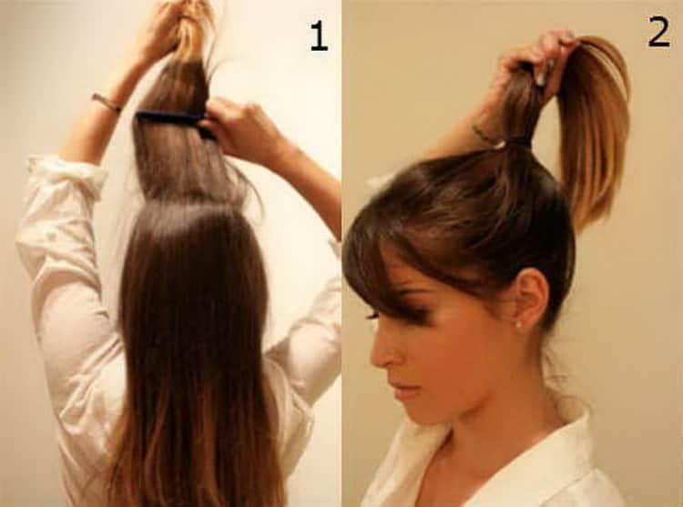 Как красиво делаются высокие прически на средние волосы