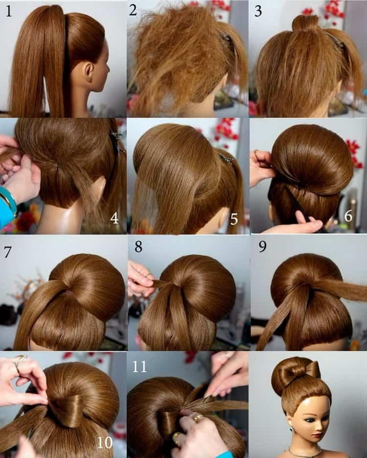 Чем делаются высокие прически на средние волосы