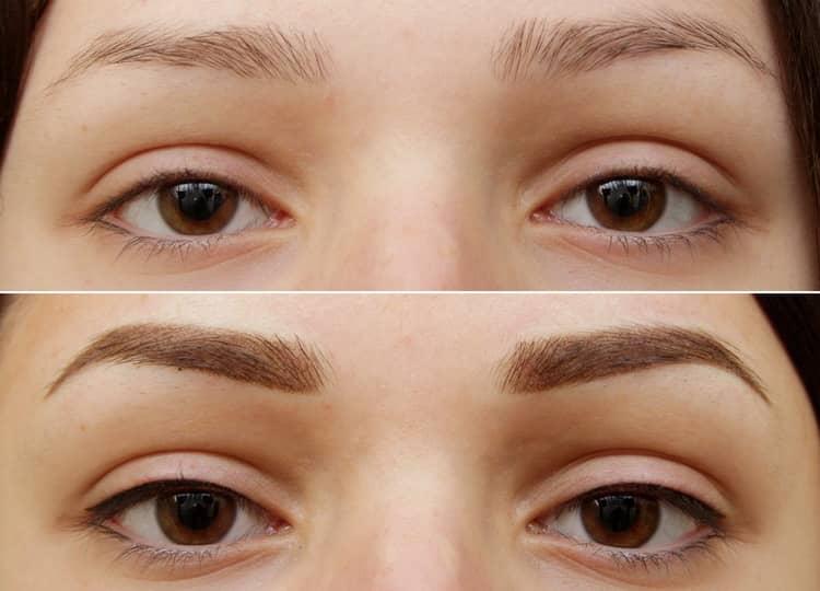пудровые брови фото до и после отзывы