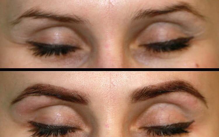 брови окрашенные хной фото до и после