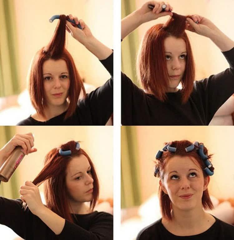 Посмотрите, как пользоваться бигуди бумерангами на средние волосы.