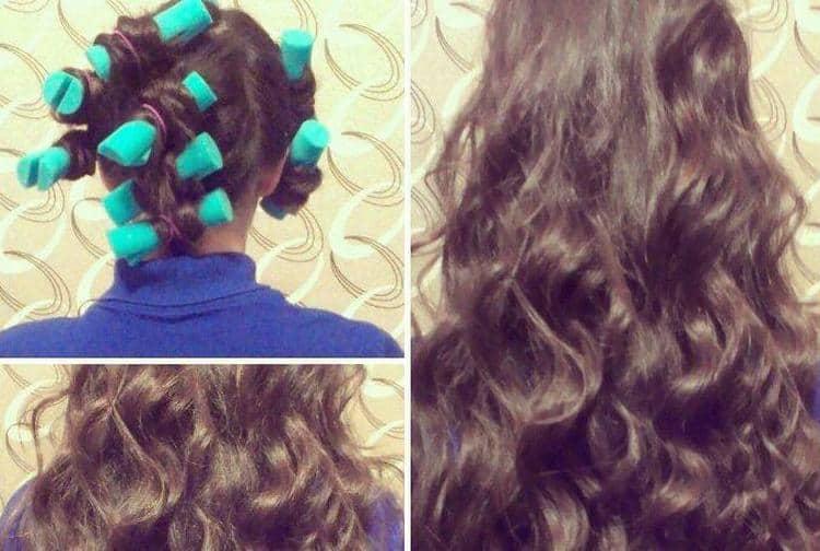 Посмотрите, как правильно накрутить волосы на бигуди папильотки.