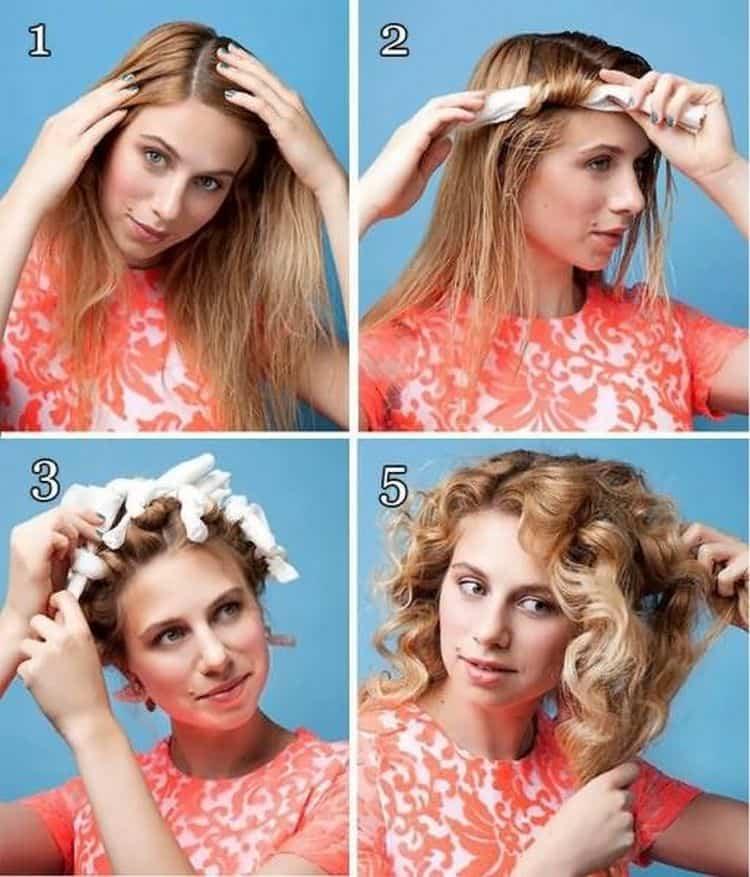 Посмотрите, как завивать волосы на бигуди папильотки.