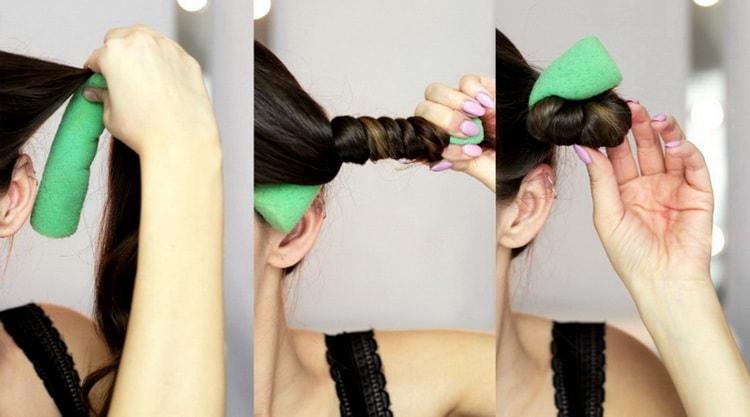 Простой способ, как пользоваться бигуди папильотками на длинные волосы.