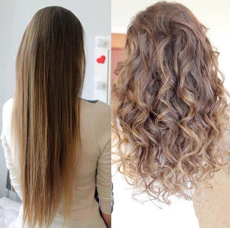 Посмотрите фото биозавивки на длинные волосы крупными локонами.