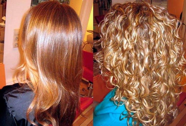 За счет биозавивки волосы получили недостающий объем.