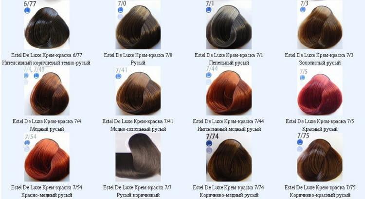 краска для волос эстель палитра №4