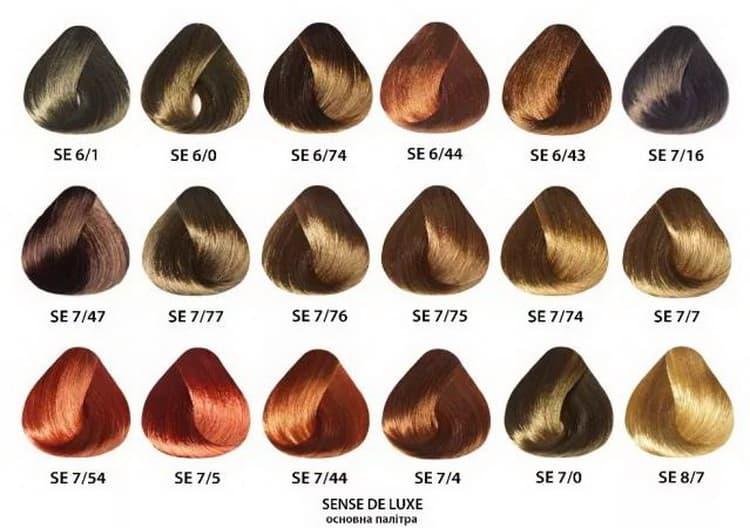 краска для волос эстель делюкс палитра №2