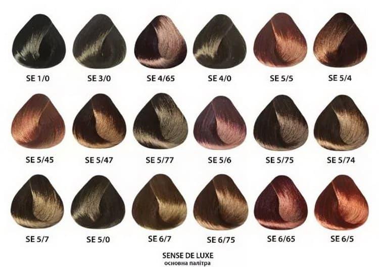 краска для волос эстель делюкс палитра №3