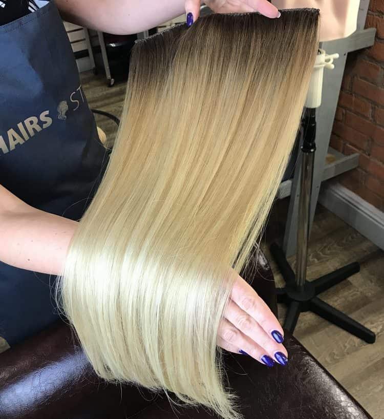 Голливудская техника наращивания волос считается одной из самых дорогих, но и самых качественных.