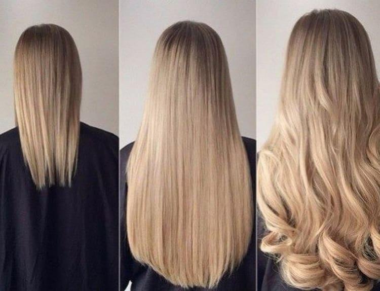 посмотрите также отзывы с фото до и после голливудского наращивания волос.
