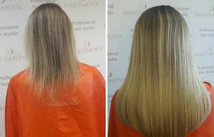 Волосы можно нарастить при такой технологии действительно очень длинные.