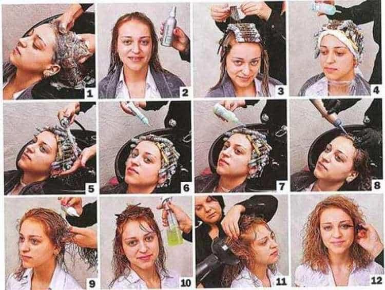 Посмотрите также видео о том, как сделать химию на короткие волосы.