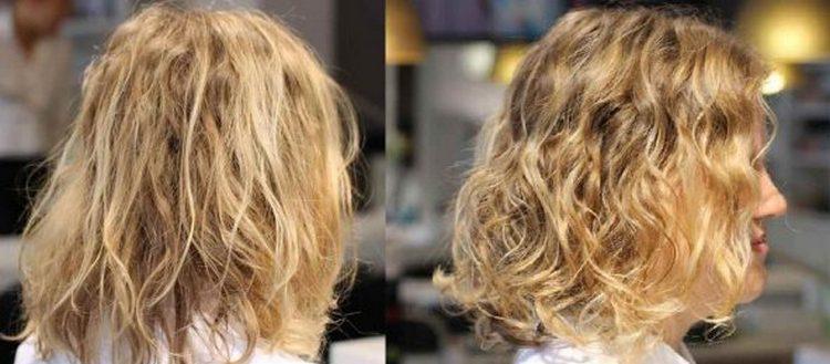 Волосы выглядят значительно лучше, нежели до процедуры.