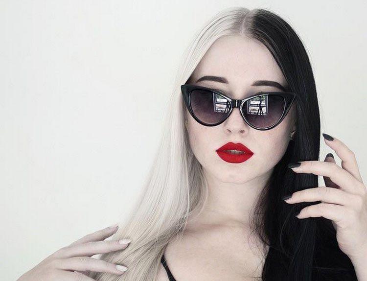 Черно-белая гамма очень стильно выглядит на волосах самой разной длины.