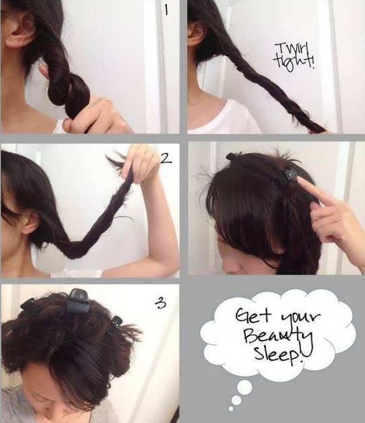 Можно завить волосы также при помощи заколки-крабика.
