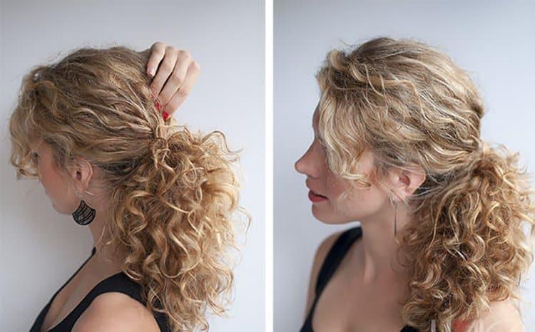 После жгута волосы тоже получаются волнистыми и красивыми.
