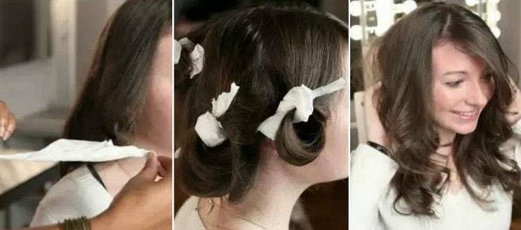 Посмотрите также, как накрутить волосы на тряпочки.