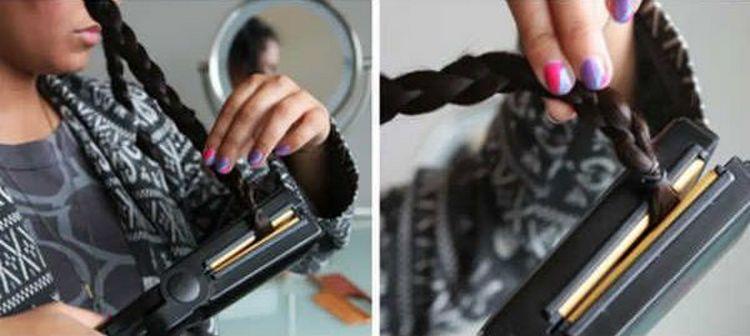 благодаря пошаговому фото вы будете знать, как завить волосы утюжком.