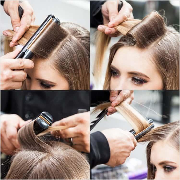 Посмотрите, как накрутить волосы утюжком для выпрямления, чтобы получить голливудскую волну.