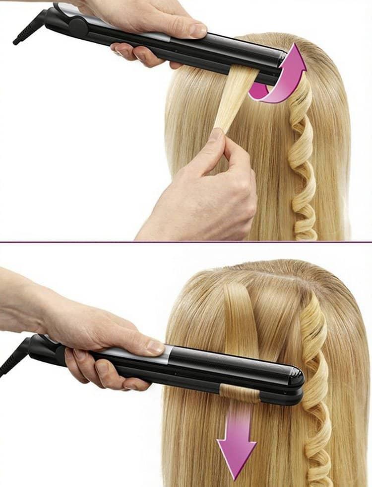 как завить волосы утюжком пошаговое фото зарплаты учителям
