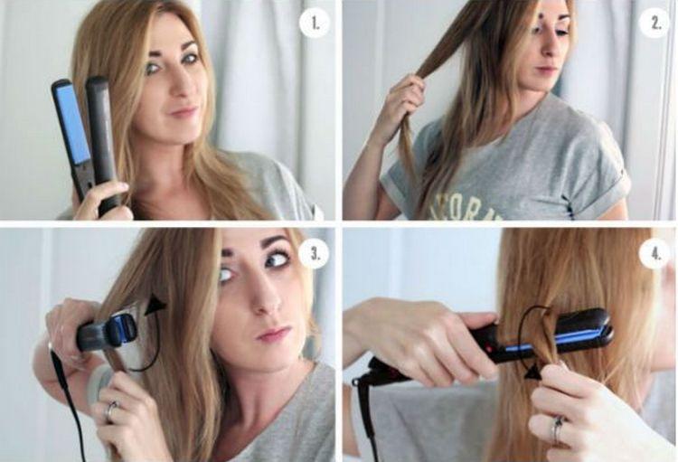 Посмотрите, как накрутить локоны утюжком на длинные волосы.