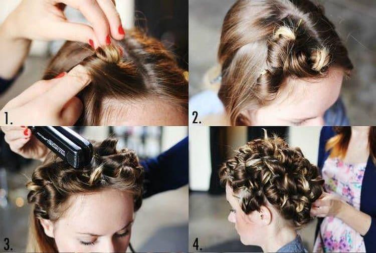 Посмотрите также видео о том, как правильно накрутить волосы на утюжок.