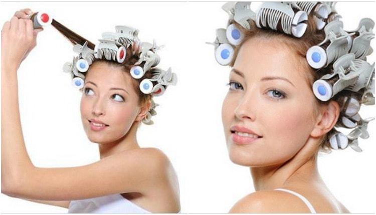 Посмотрите, как правильно накручивать волосы на пластмассовые бигуди.