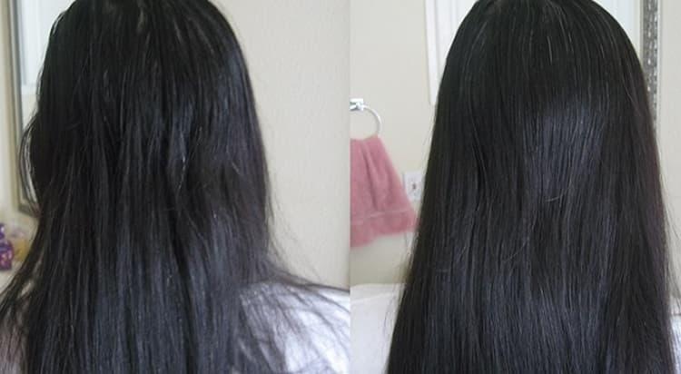 Хороший эффект дает специальный разглаживающий крем для волос.